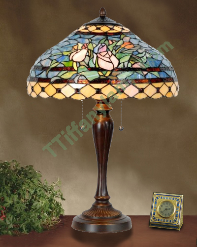 tiffany style harvest rose table lamp t16002 tiffany table lamps. Black Bedroom Furniture Sets. Home Design Ideas