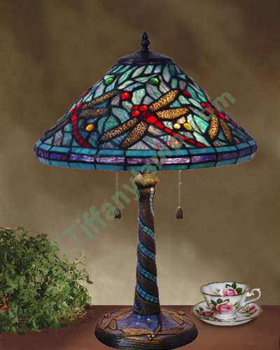 home on for designs table dragonfly inside iron laundry jeweled idea your lamp tiffany big base room glass