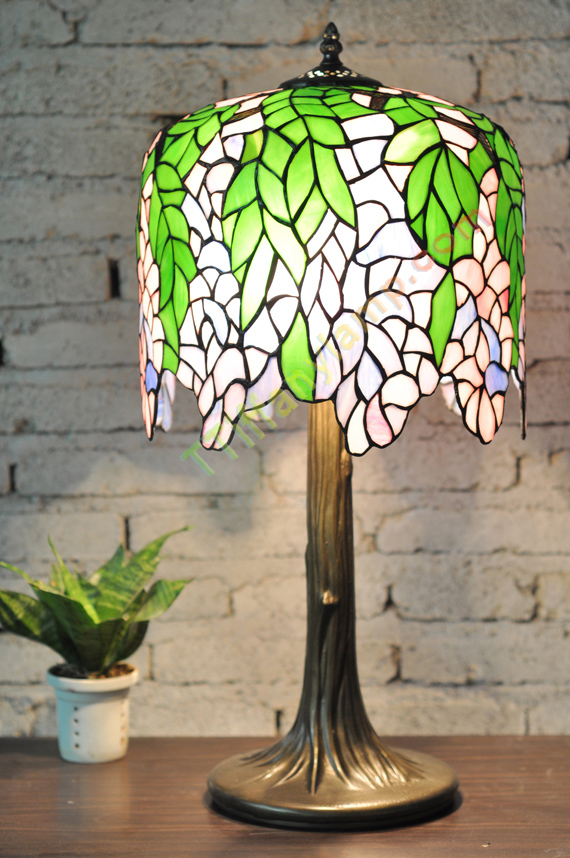 Wisteria table lamp t12003 tiffany table lamps tiffany lamps brand new exquisite gorgeous tiffany style lamp is a uniquehandcrafted work of art nouveau variation in the glass using genuine hand rolled art stained aloadofball Choice Image