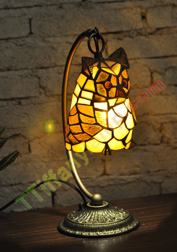 Tiffany Owl Lamp A00206 Tiffany Accent Lamps Tiffany