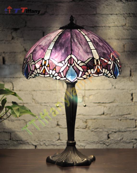 Crystal Tiffany Lamp T16050r Tiffany Table Lamps
