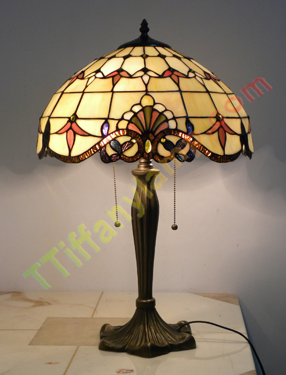 stained glass table lamp g1609003 tiffany table lamps tiffany. Black Bedroom Furniture Sets. Home Design Ideas